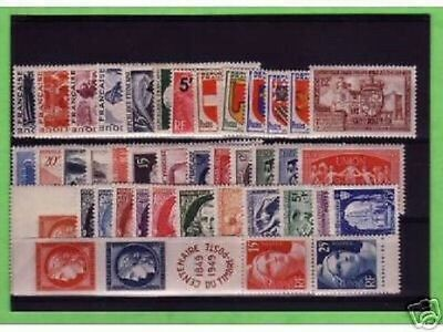 Timbres France Neufs Annee Complete Luxe 1949
