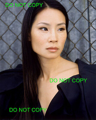 LUCY LIU - 8x10 Photo - BLACK DRESS & FRECKLES