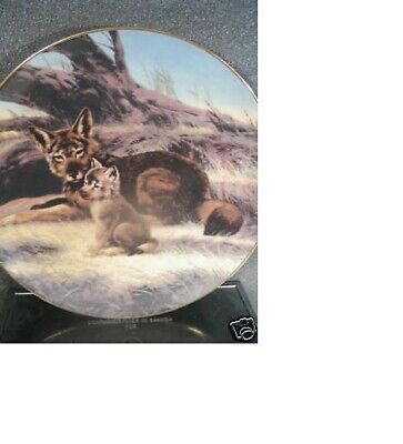 W. L. George 1989 RED WOLF Last of Their Kind Will Neldon Ltd Ed Plate