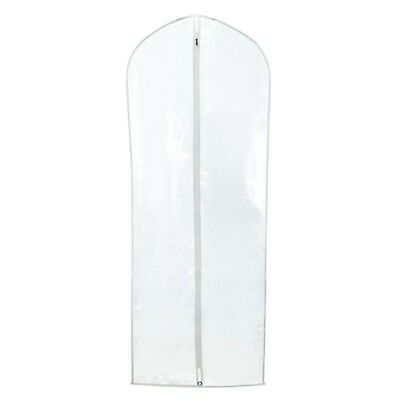 """12 Clear Zipped Dress Suit Garment Clothes Cover Protector Bags 60"""" Hangerworld"""