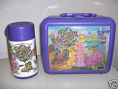 Timeless Tales`1989`Plastic Lunchbox With Thermos`Free To US