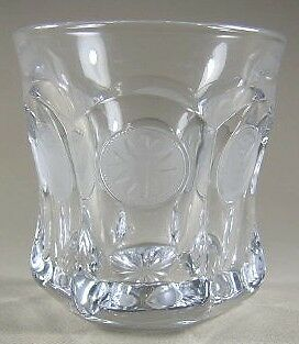"Fostoria Coin Clear Old Fashion 3 5/8"" tall"