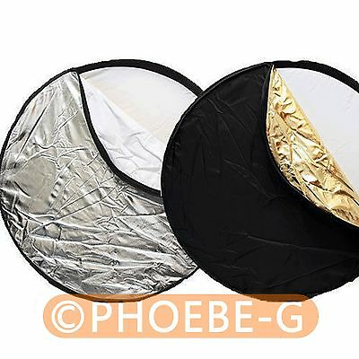 """80cm 32"""" 5-in-1 Light Multi Collapsible disc Reflector"""