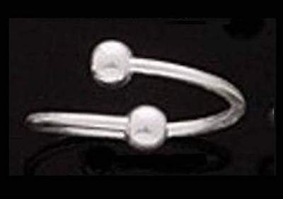 Toe Ring - 925 Sterling Silver - Twist with 4mm Balls