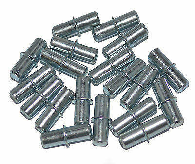 Pack of 20 Galvanised Steel 5mm Shelf Studs Pins Plugs Kitchen Units & Bookcases