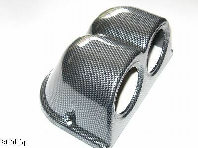 Twin Gauge Pod (Double 52mm Gauges) - Carbon Effect Look Dash Mount Holder