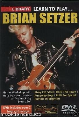 LICK LIBRARY Learn To Play BRIAN SETZER Stray Cats LESSON TUTOR SONGS Guitar DVD