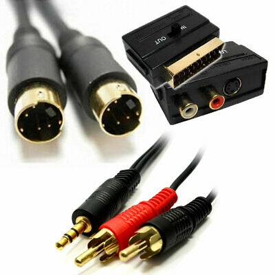 5m TV Out KIT PC Laptop to SCART S-VHS Audio Lead Video