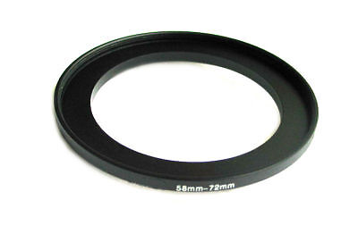 Step-up adapter ring 58-72 58mm-72mm Anodized Black NEW for Camera New US Seller