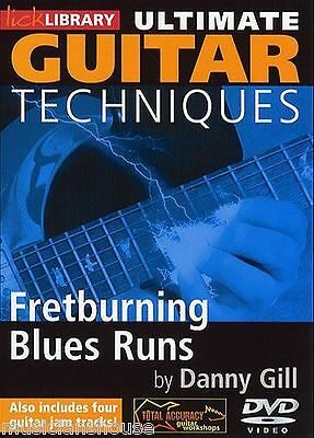 LICK LIBRARY ULTIMATE GUITAR TECHNIQUES FRETBURNING BLUES RUNS Learn to Play DVD