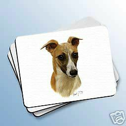 WHIPPET Tan Dog Computer MOUSE PAD Robert May Mousepad