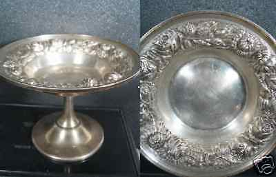 """Sterling Stieff REPOUSSE CANDY COMPOTE Roses  4 1/4"""""""