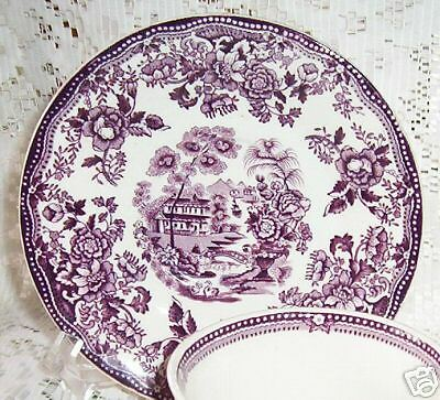 Tonquin Plum Royal Staffordshire Coffee Saucers Only
