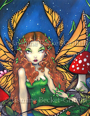 Red Haired Fairy Queen art gothic fantasy Jasmine Becket-Griffith CANVAS PRINT