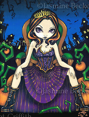 Queen of Halloween pumpkin fairy gothic art Jasmine Becket-Griffith CANVAS PRINT