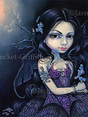 Night Jewel fairy gothic dress fantasy art Jasmine Becket-Griffith CANVAS PRINT