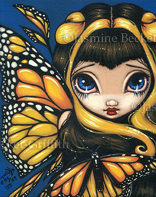 Golden Butterfly Fairy big eyes fantasy art Jasmine Becket-Griffith CANVAS PRINT