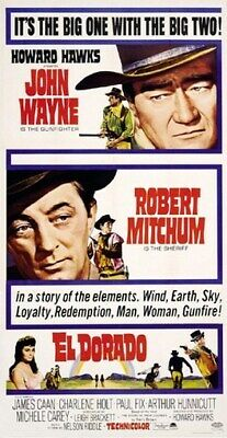 ELDORADO MOVIE POSTER John Wayne - Robert Mitchum 3