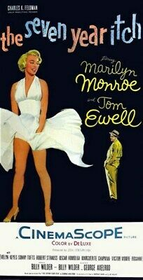 THE SEVEN YEAR ITCH MOVIE POSTER Marilyn Monroe 1