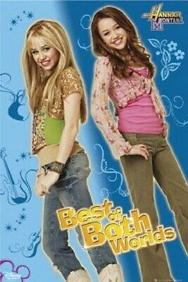 HANNAH MONTANA POSTER Best of both Worlds 2 NEW 24X36