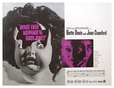 What Ever Happened To Baby Jane Movie Poster - Rare