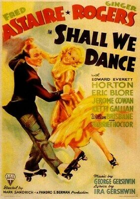SHALL WE DANCE MOVIE POSTER Fred Astaire Ginger Rogers2