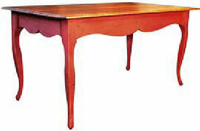 French Farm Dining Table 6 Ft Antique Country Reproduction 25 Paints Stains New