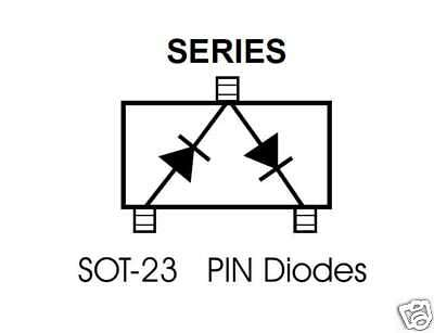 HSMP-3862 Series RF PIN Diodes ...........Lot of 5.....