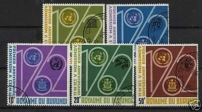 Burundi 1963 Anniv Of Admission to UNO Used Set