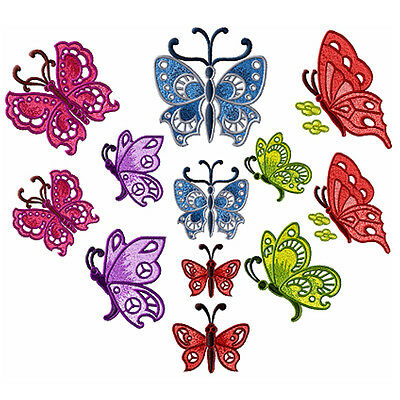 """Colorful Butterflies machine embroidery designs 4""""x4"""""""