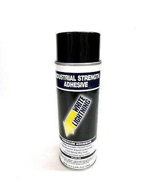 NEW! LOT of 6 WHITE LIGHTNING INDUSTRIAL SPRAY ADHESIVE