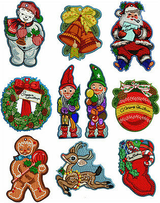 """ABC Designs 10 Christmas Lace Ornaments Machine Embroidery Designs 5""""x7"""" Hoop"""