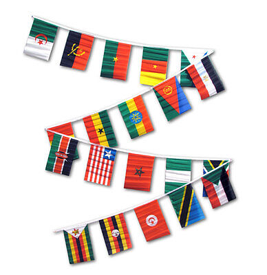 African Countries String Of Flags 30 Feet Pennants New Africa