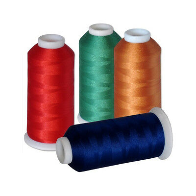 THREADELIGHT COMMERCIAL SIZE POLYESTER EMBROIDERY THREAD 60 COLORS 5500yds