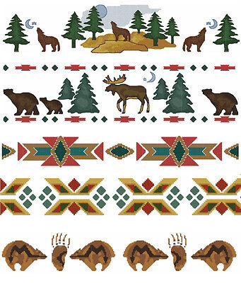 Natives American borders machine embroidery designs