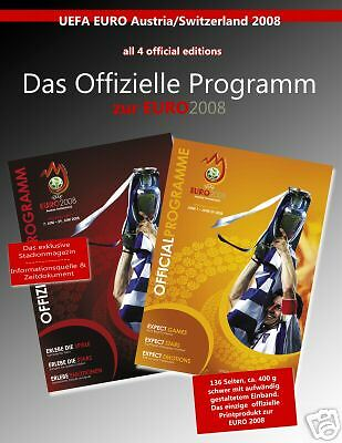 All 4 Official Programmes UEFA EURO 2008 incl. Final !