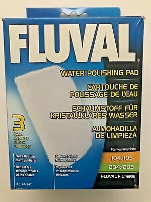 Fluval 104 105 204 205 Water Polishing Pad - 3 pack