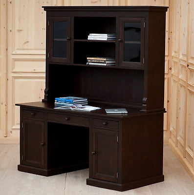 COTTAGE Style Solid Wood DESK with Top HUTCH 30 Country Paints Old World Stains