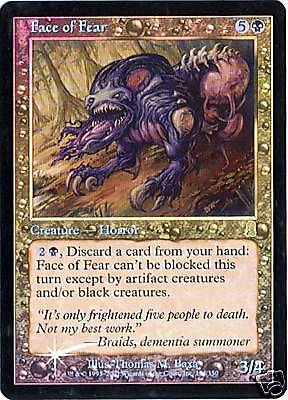 MTG - Odyssey - Face of Fear - Foil - NM