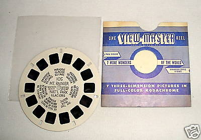 Viewmaster 105 Mt. Rainier Nat'l Park - HL - no pos. #s