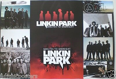 "Linkin Park ""minutes To Midnight - 5 Shots Of The Band"" Asian Music Poster"