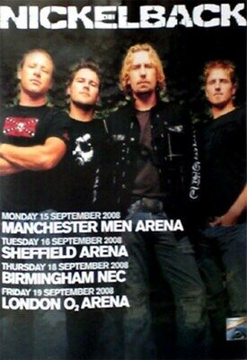 NICKELBACK TOUR POSTER Rare Hot New 24x36