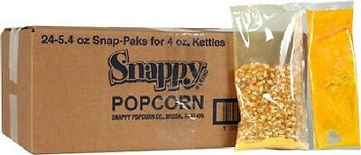 SNAPPY POPCORN PORTION PAKS for 4 oz POPPERS 2-CASES/48