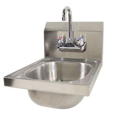 Hand Sink Wall Stainless SPACE SAVER NEW 11568