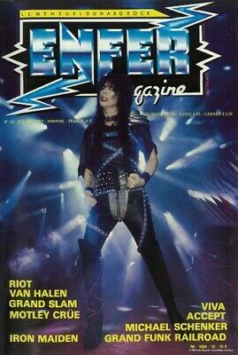 MOTLEY CRUE POSTER Mick Mars Early Years Enfer Cover