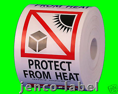 IP3411W, 500 3x4 Protect From Heat,Intl Pictorial label