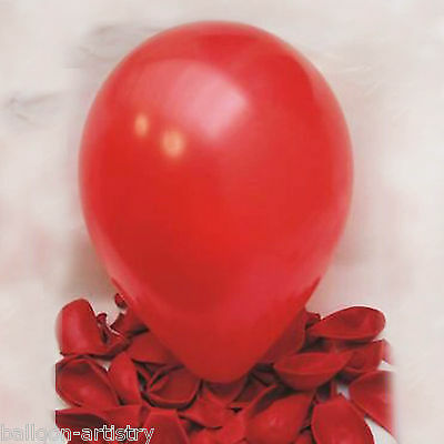 "100 x Ruby Red 12"" Pearlised Balloons"