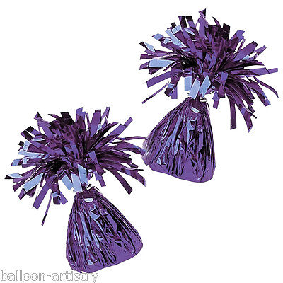 10 x Purple Foil Balloon Party Weights Ready Made