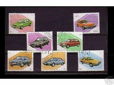0812++Laos   Serie Timbres Voitures