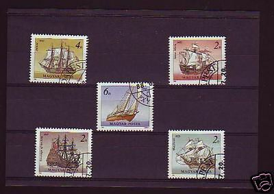 2253+ Timbres Hongrie  Serie  Voiliers  1988